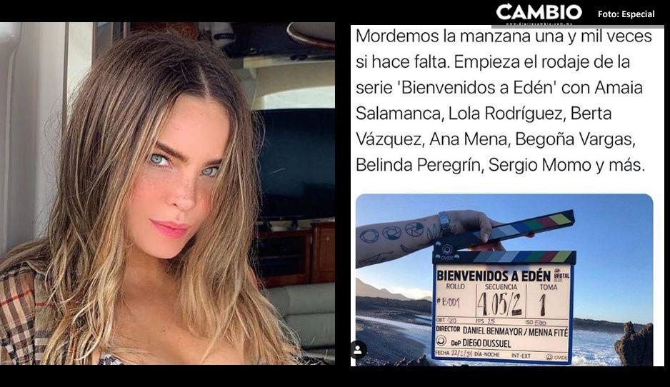 ¡De vuelta a la actuación! Belinda inicia rodaje de serie; grabará en España