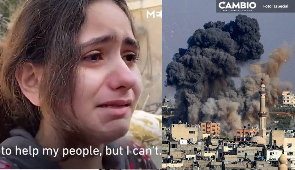 Niñita palestina narra angustia que vive por ataques en Gaza: 'no entiendo por qué nos atacan' (VIDEO)