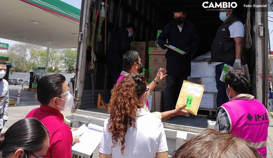 Llegan a Tehuacán boletas electorales para elegir diputados federales