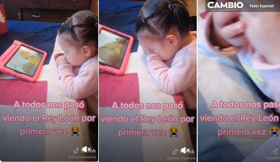 Hakuna Matata: Niñita llora al ver por primera vez El Rey León y enternece en redes (VIDEO)