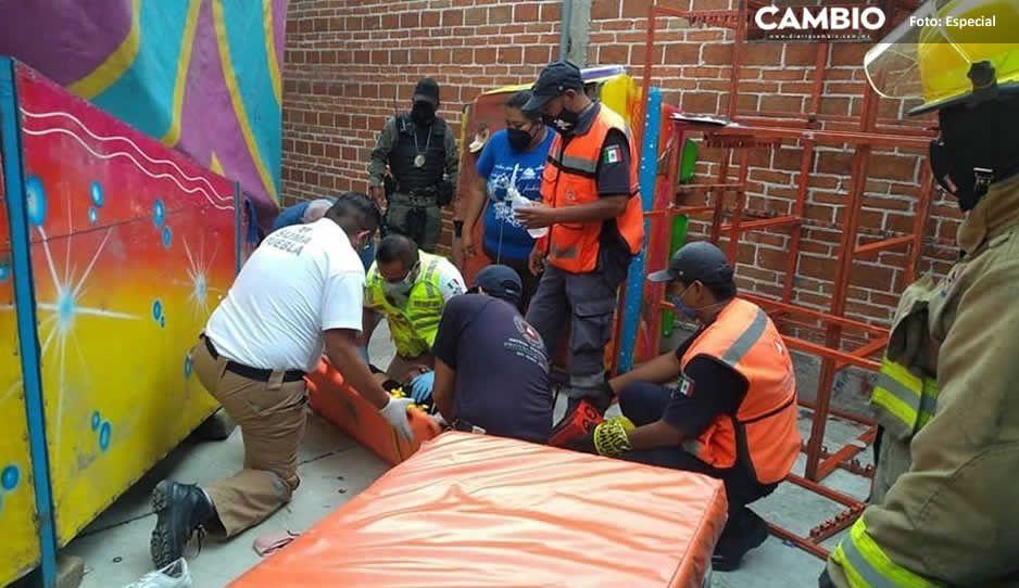 ¡Aterrador momento! Accidente en un juego mecánico deja tres personas lesionadas en Tepontla