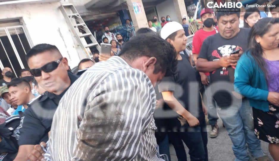 Detienen a delincuente; intentó robar en el Mercado 5 de mayo de Huauchinango