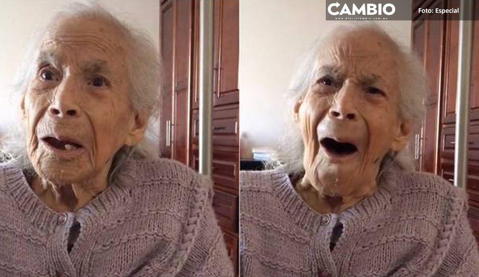 ¡Ternura! Abuelita se conmueve con canción de su infancia (VIDEO)