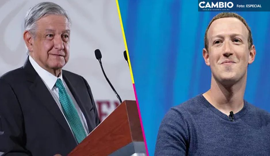 """AMLO critica a Zuckerberg por suspensión de cuentas de Trump; """"lo sentí con prepotencia"""""""