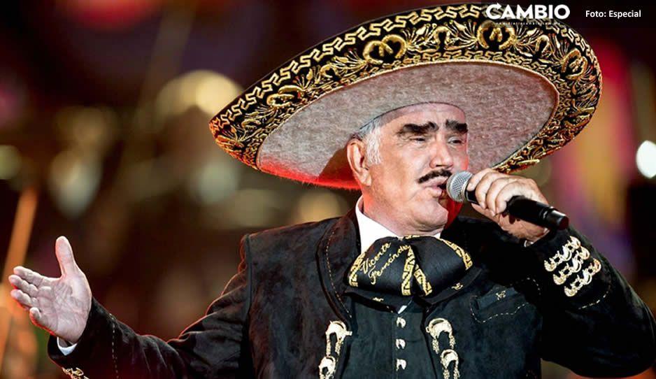 Aseguran que Vicente Fernández tiene muerte cerebral y sus pulmones están colapsados