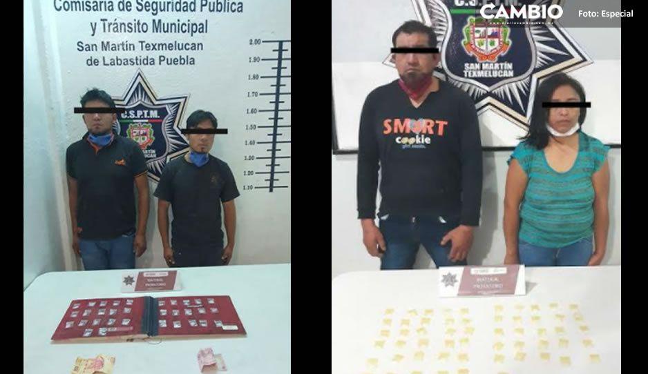 Policía de Texmelucan logra dos detenciones en La Santísima y en Ojo de agua