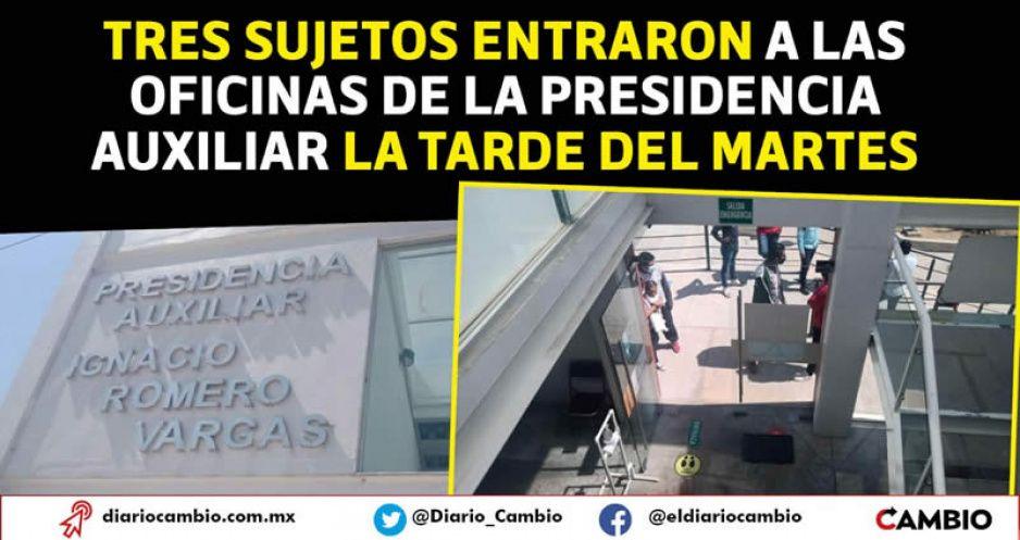 Asaltan presidencia de la Romero Vargas, golpean al edil y se roban 90 mil (VIDEO)