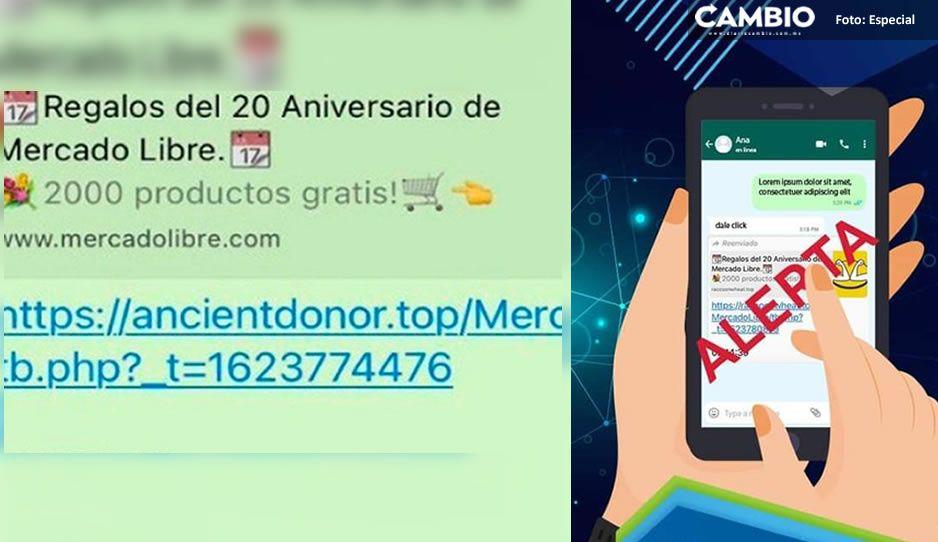¡Alerta! Ciberladrones engañan a usuarios de WhatsApp con ofertas de Mercado libre