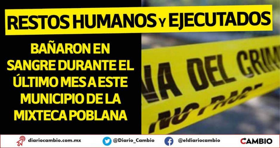 Marzo sangriento en Chietla: Ejecutan a cinco personas en vía pública