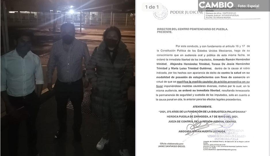 Liberan a los hermanos Trinidad, acusados de narcomenudeo y corrupción de menores en Analco
