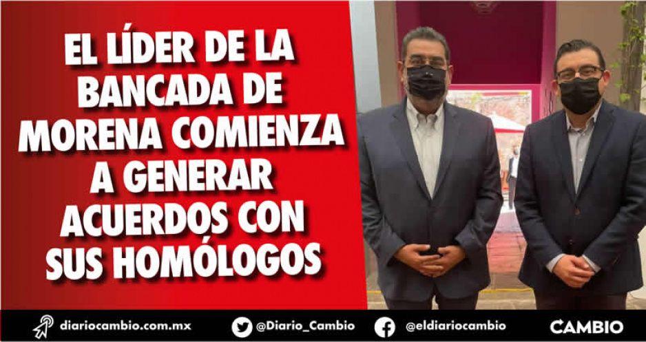 Cónclave Sergio Salomón-Alcántara arranca negociación de comisiones en el Congreso del Estado
