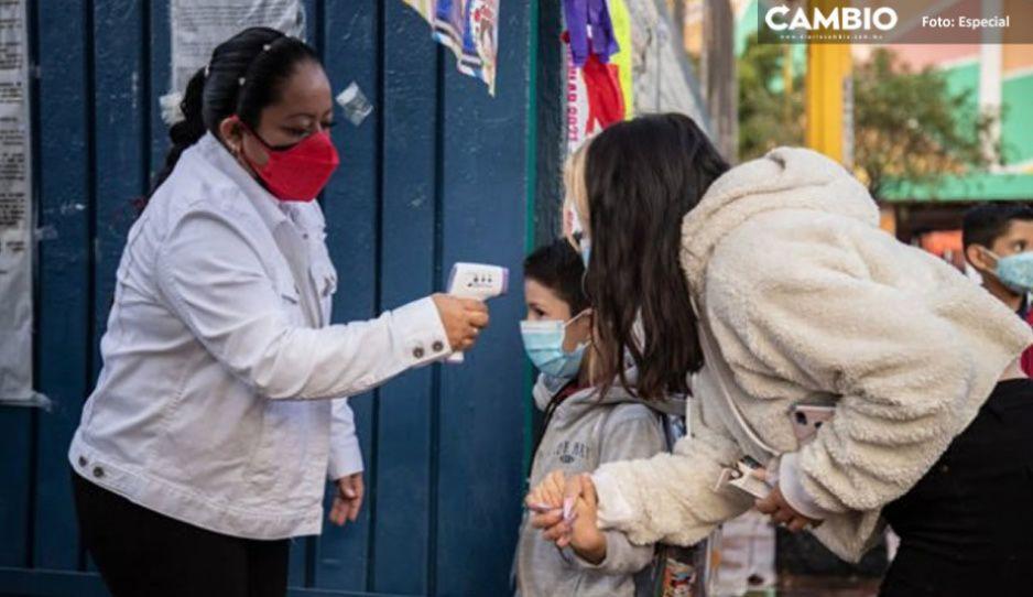 SEP confirma 453 contagios de Covid en escuelas de Puebla; 16 instituciones suspendieron clases