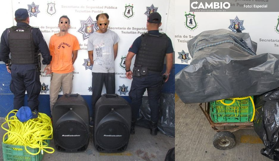 Rateros son detenidos por la policía municipal de Teziutlán