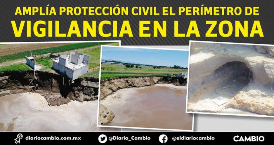 Juan C Bonilla en alerta: el socavón sigue creciendo y tiene varias fisuras (FOTOS Y VIDEO)