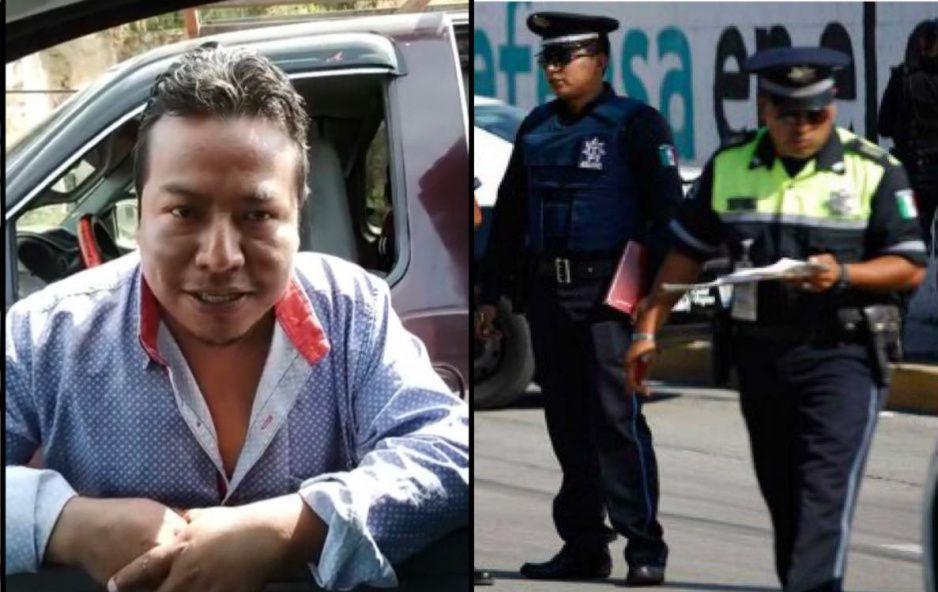 ¡Corruptazos! Tránsitos de Texmelucan extorsionan a conductor con 2 mil 500 pesos por no traer el cinturón (VIDEO)