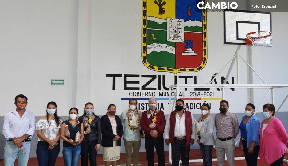 Carlos Peredo Grau inaugura obras inéditas en infraestructura deportiva en Acateno y Atoluca