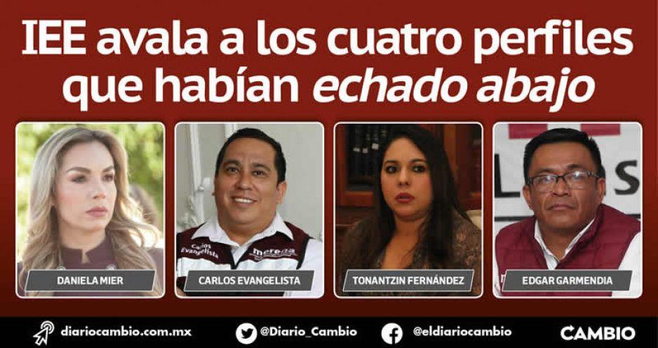Morena ratifica sus pluris y quedan los mismos: Daniela Mier, Evangelista, Tonantzin y Garmendia