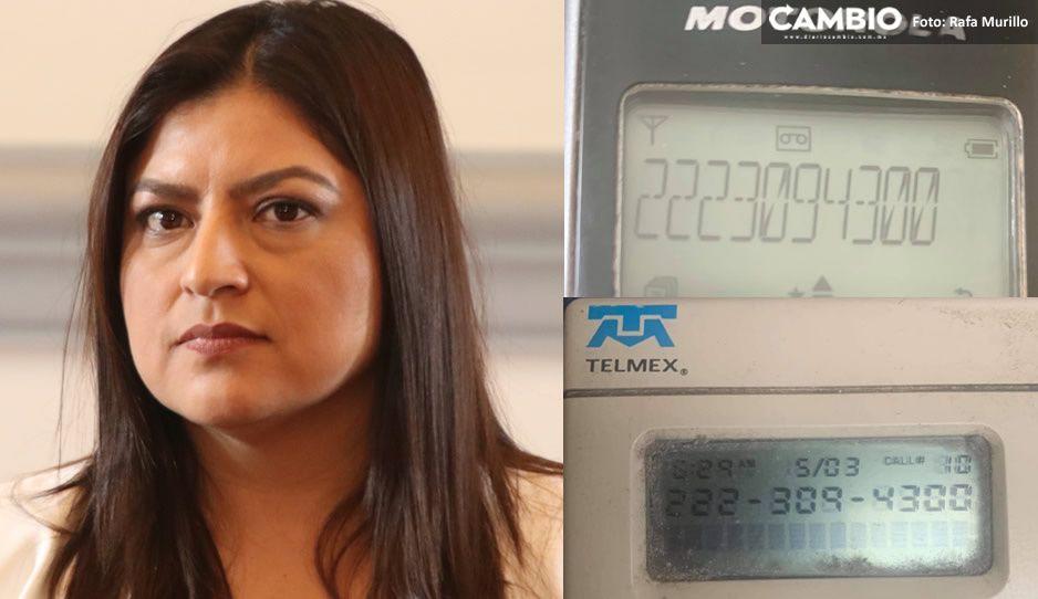 Te pido tu voto después de mi excelente labor: eso dijeron las llamadas madrugadoras de Claudia y salieron del 2223094300