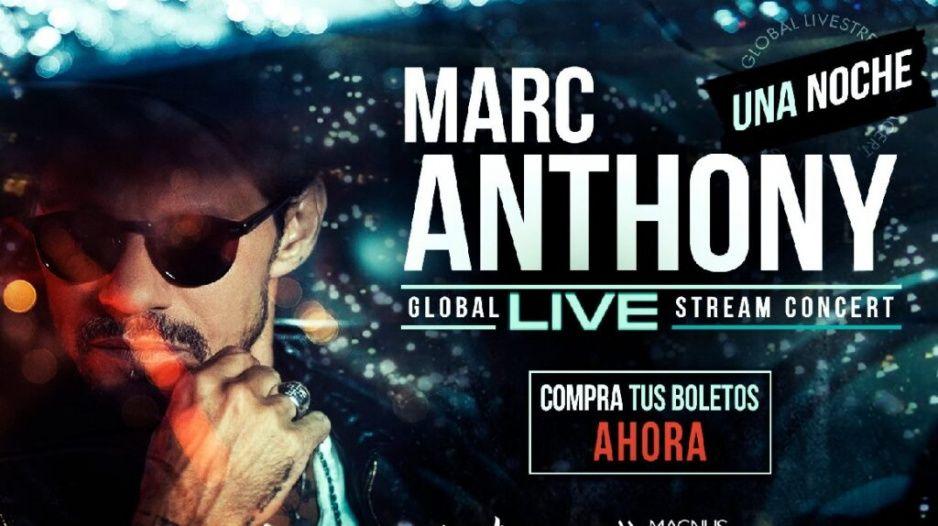 Marc Anthony presentará gratis en YouTube su concierto fallido, por tiempo definido