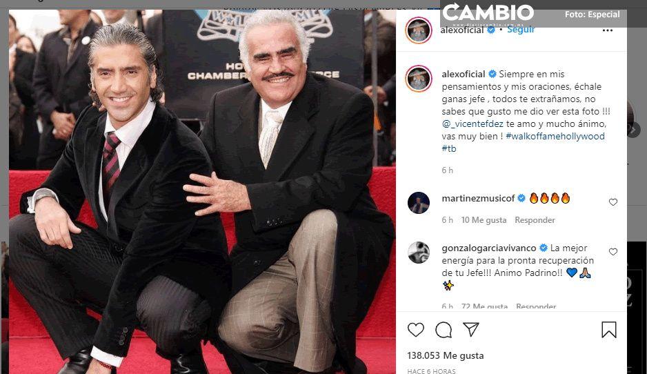 """FOTO: """"Échale ganas, jefe"""", el emotivo mensaje de Alejandro Fernández a su papá"""