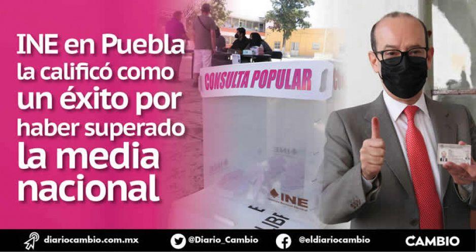 Brilla Puebla en la consulta: votaron más de 400 mil, arriba del 8 % del padrón (VIDEO)