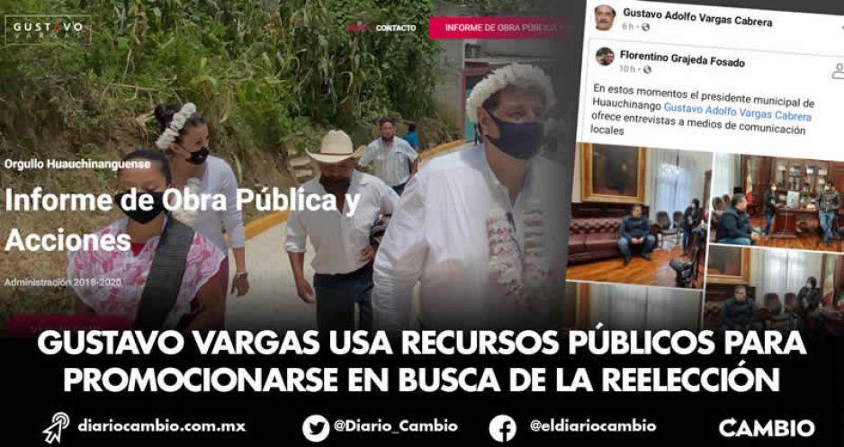 Gustavo Vargas usa recursos públicos para promocionarse en busca de la reelección