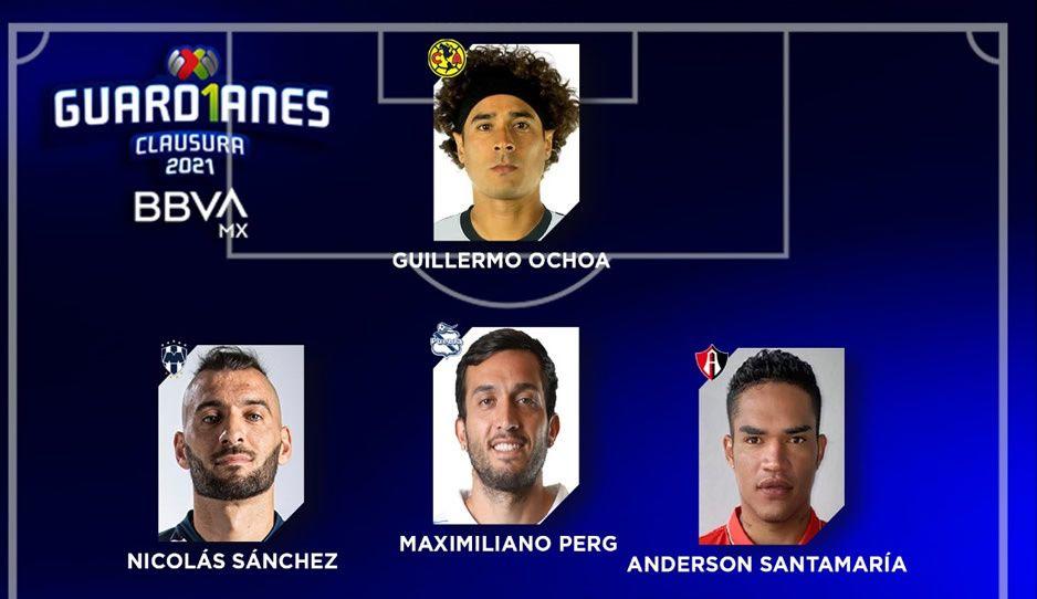 Maxi Perg en el XI ideal de la última jornada de la Liga MX