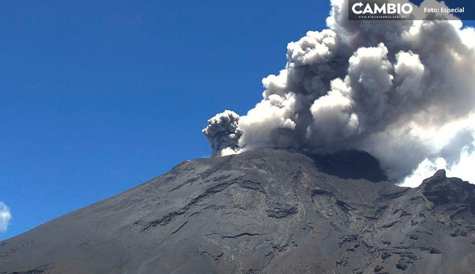 Descartan suspensión de clases por actividad del Popocatépetl