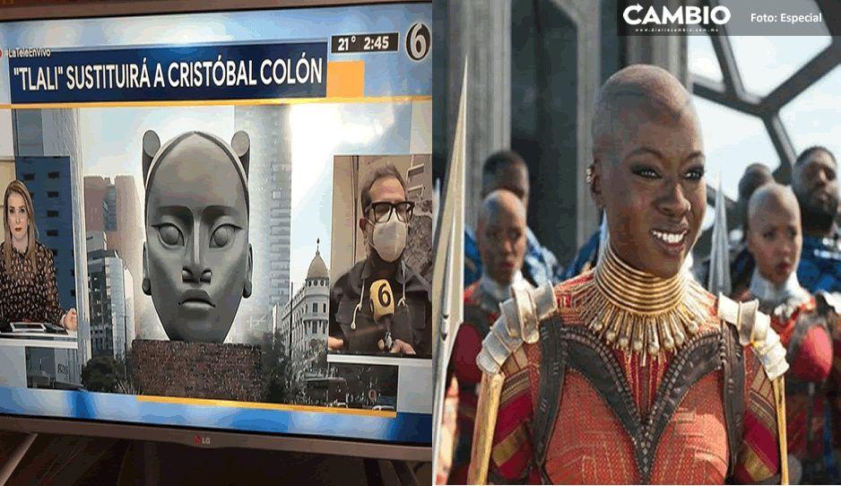 Ella es Tlali, la imagen que sustituirá a Colón en Reforma; la comparan con Wakanda en redes