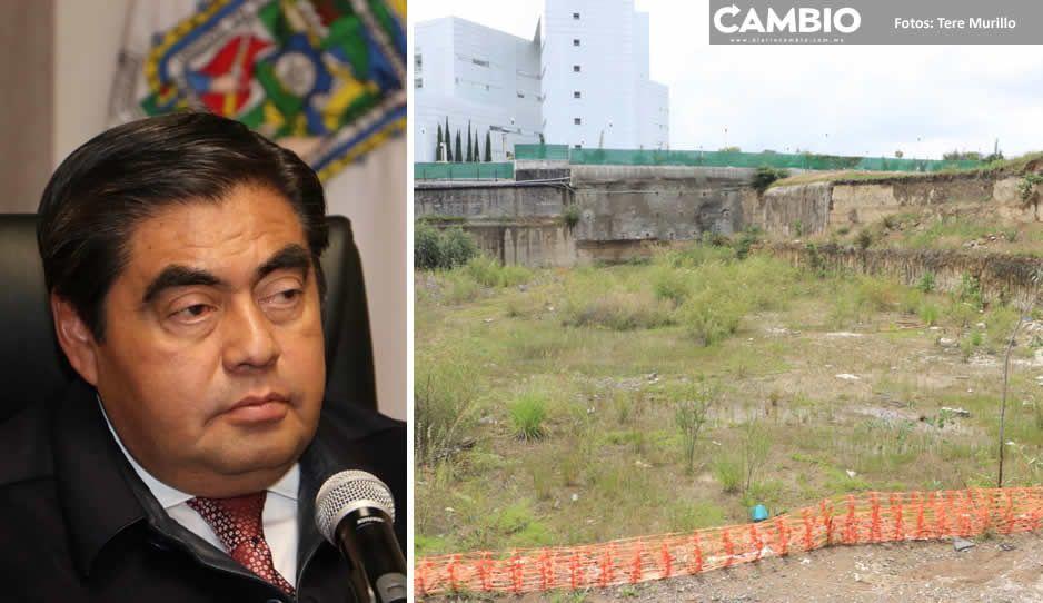 Litigio entre CCE y gobierno estatal por predio en Angelópolis sigue vigente: Barbosa