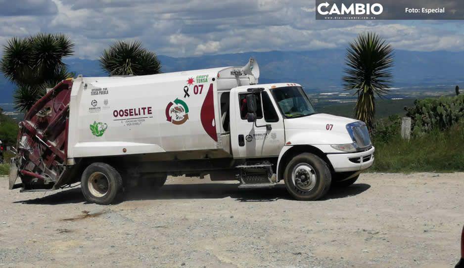 Basura: némesis de Tehuacán; Organismo de Limpia adeuda recolección de desechos