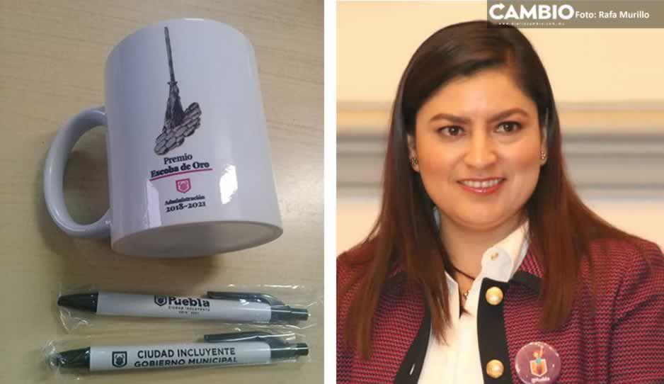 """Claudia se dio bono de 268 mil y a las naranjitas las premió con una taza """"escoba de oro"""""""
