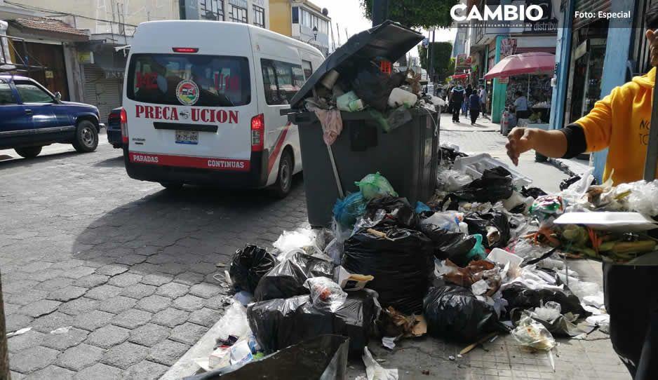 ¡Qué asco! Las calles de Tehuacán entre más de 700 toneladas de basura por tercera vez en el año (FOTOS Y VIDEO)