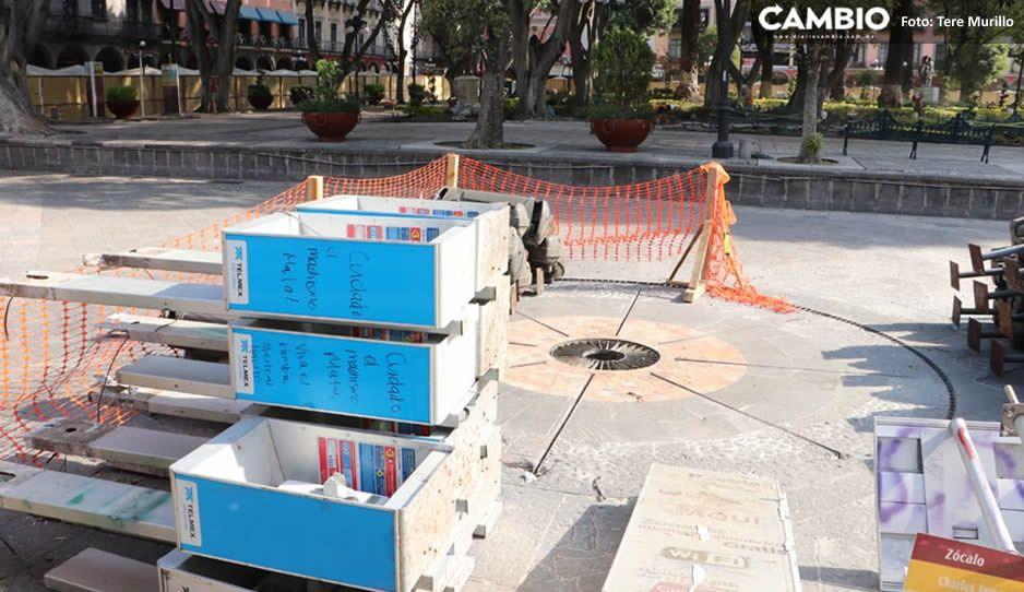 Inician la remodelación del Zócalo aunque el Ayuntamiento no tiene los permisos ambientales (FOTOS y VIDEO)