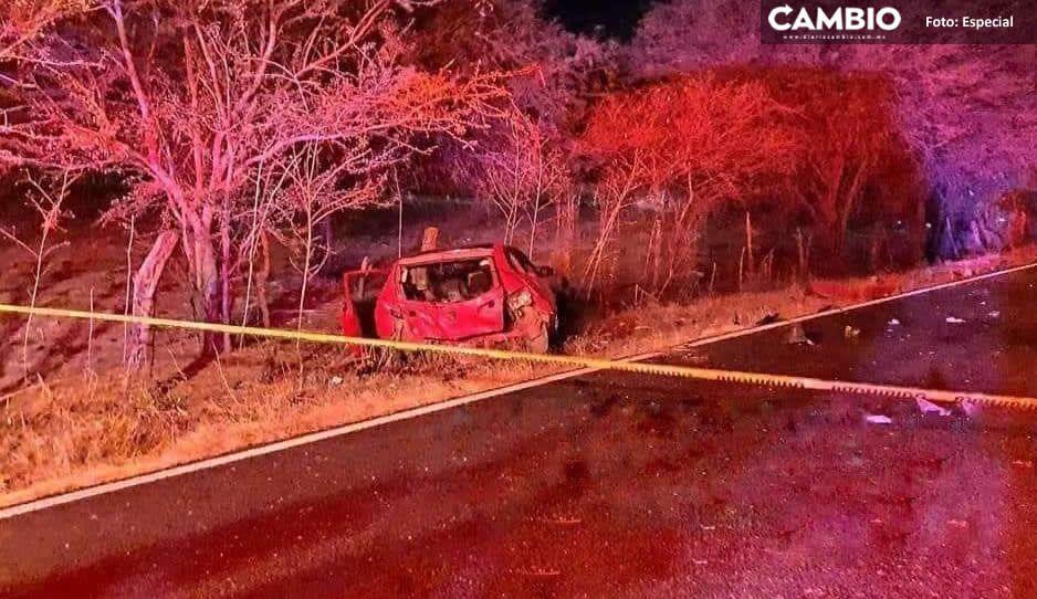 Un muerto y cinco lesionados deja terrible accidente en carretera Boquerón-Tehuitzingo