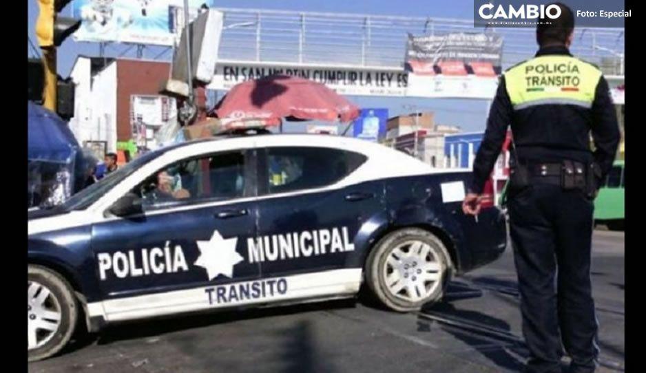 Renuncia el director y dos elementos de tránsito de Texmelucan tras ser acusados de abuso de autoridad