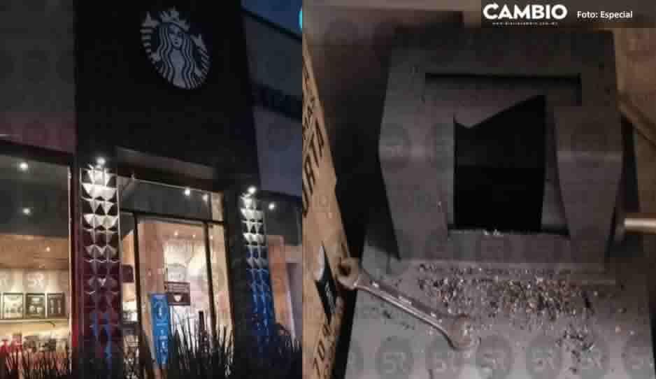 Delincuentes roban más de 100 mil pesos de Starbucks de Periférico
