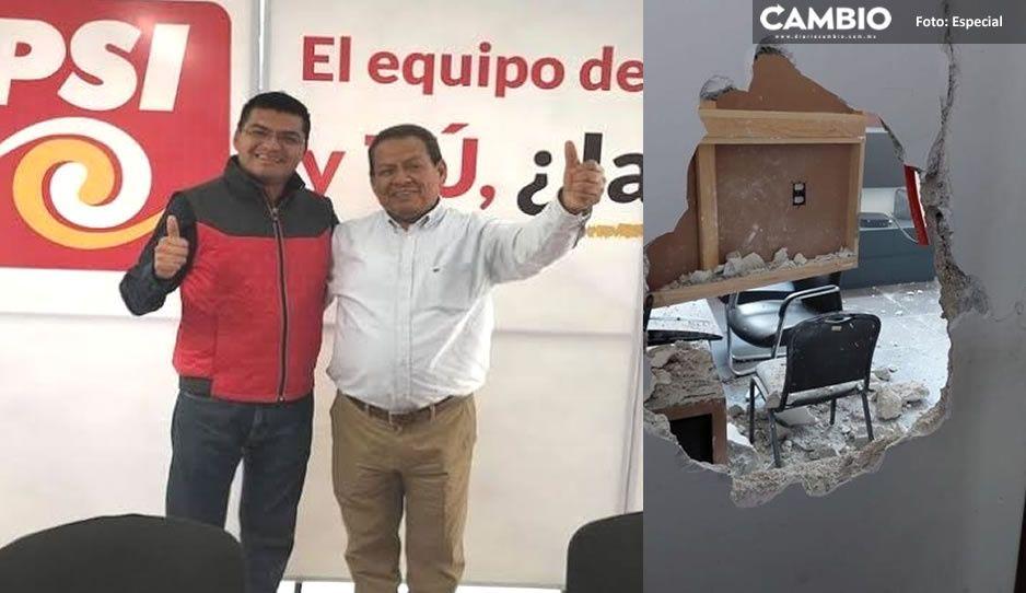El hermano del Toñín fue detenido en la alcaldía de Quecholac; se atrincheró y ministeriales tumbaron la puerta