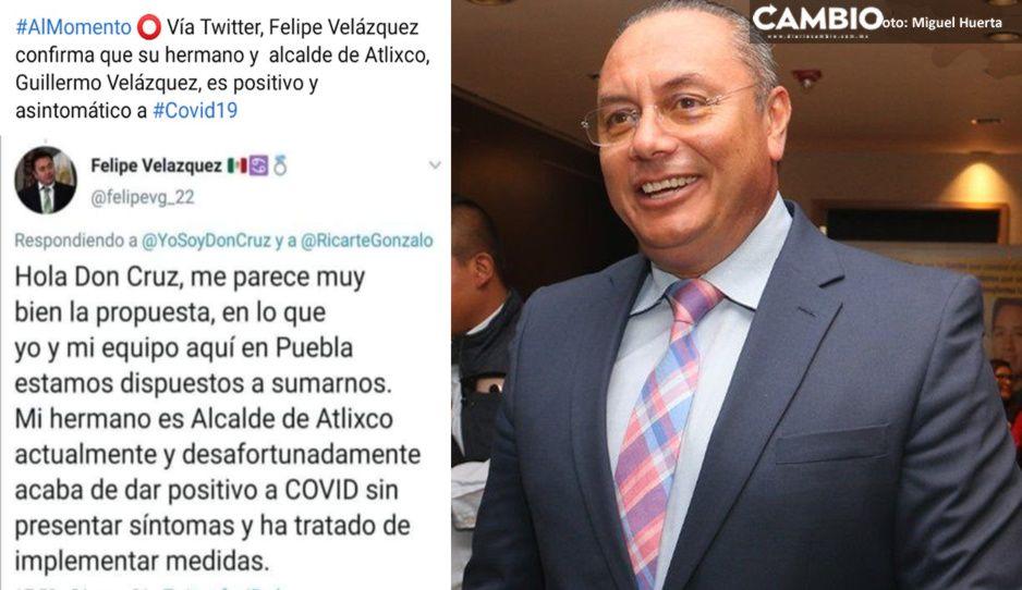 El virus ataca a Guillermo Velázquez, alcalde de Atlixco