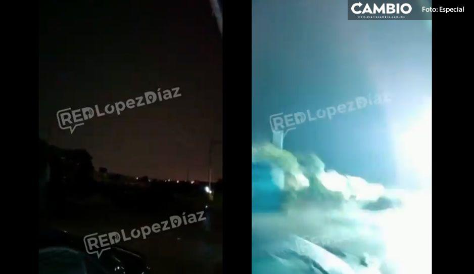 VIDEO: Jovencitos casi mueren por grabar tormenta eléctrica en Puebla