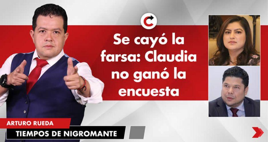Se cayó la farsa: Claudia no ganó la encuesta