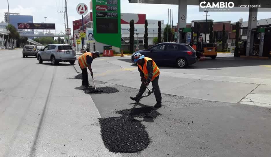 ¡Bacheo masivo! Gobierno de Puebla rehabilitará más de 100 vialidades