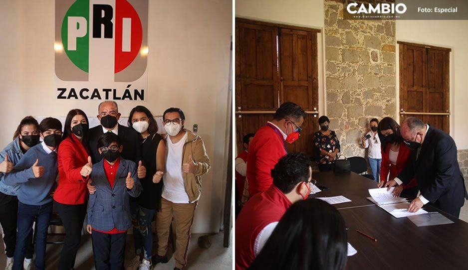 Pepe Márquez se registra como aspirante a la alcaldía de Zacatlán por el PRI (FOTOS)