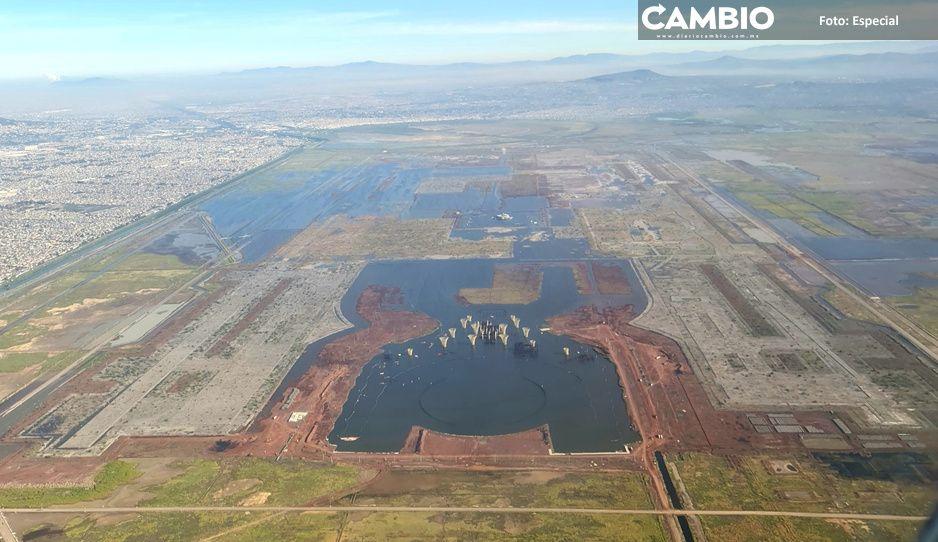 ¡La naturaleza vuelve a su lugar! Revelan FOTO con inundaciones en lo que sería el NAIM