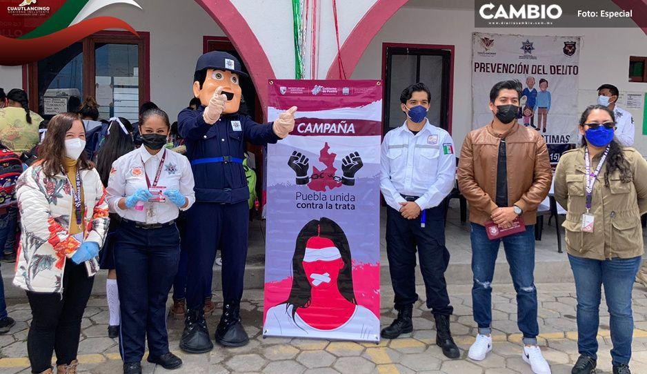 Realizan Jornada de Proximidad Social en junta auxiliar de Cuautlancingo