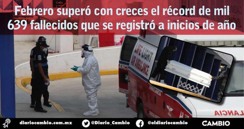 Febrero, el mes con más fallecimientos durante la pandemia: 1,669 incidencias