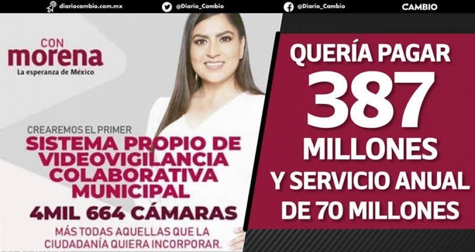 Revive Claudia licitación amañada de videocámaras como nueva propuesta de campaña (VIDEOS)