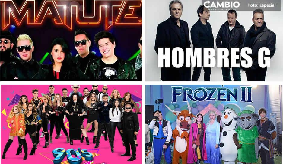 Matute, Hombres G, 90s Pop Tour y Frozen II se presentarán en Puebla ¡Toma nota!