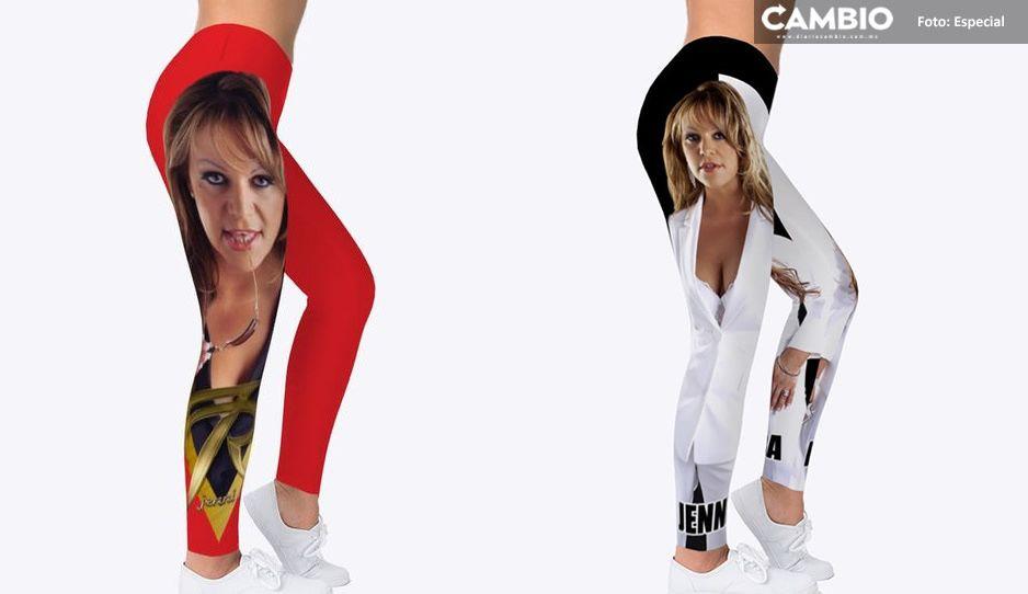 Perfectos para el outfit de buchona; lanza leggins con la cara de Jenni Rivera