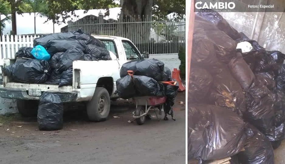 Gustavo Ecoloco Vargas convierte Tenango en basurero y vecinos levantan los desechos